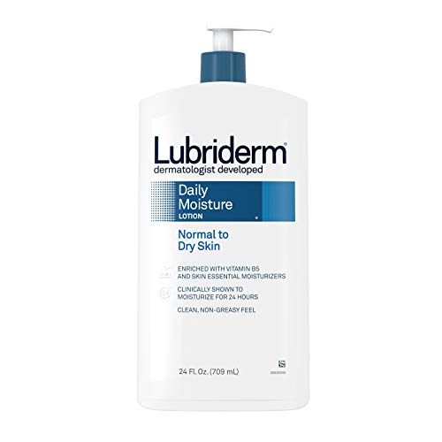 Lubriderm Daily Moisture Hydrating Body and Hand Lotion with Vitamin B5, Non-Greasy, 24 fl. oz