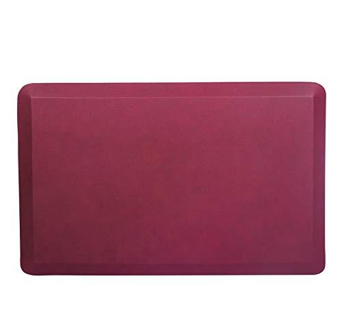 IGREEN Tappetino antifatica da cucina, tappetino da scrivania, comodo tappetino da cucina o da scrivania, tappetino da cucina per pavimenti e cuscini da pavimento (rosso, 2039)