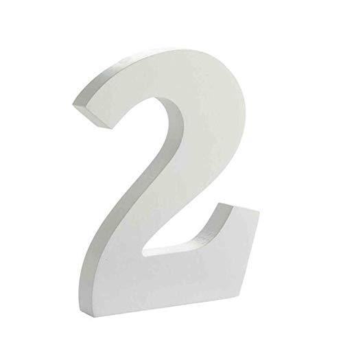Arte infinita - Letras y números de madera alfabeto para decoración 15 cm (2)