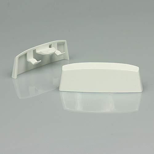 Wasserschlitzkappen Standard Weiss RAL 9016- Braun RAL8019 - Anthrazit RAL7016 - Schwarz RAL9005 für Schlitzfräsungen von 25-29 x 5mm, 30 Stück (Weiß RAL9016)