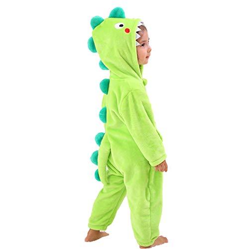 Kids Boys Dinosaur Costume Onesies with Hood Soft Animal Cartoon Fleece Pajamas Gift (4-6 Years,...