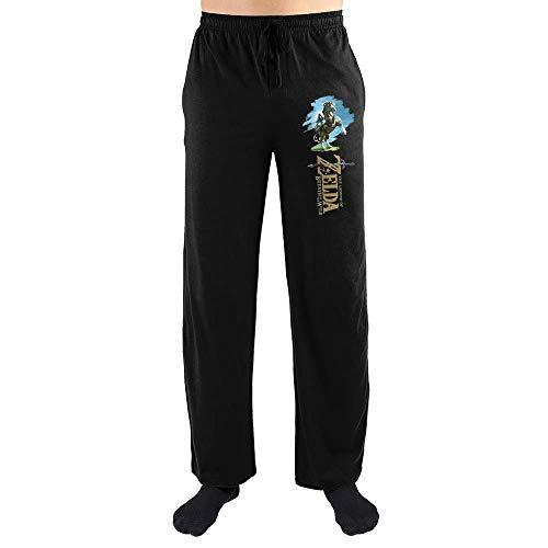 The Legend of Zelda Link Men's Black Sleep Pant (X-Large)