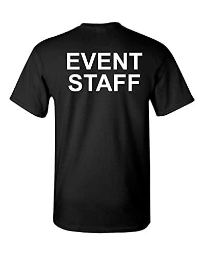 Event Staff Bouncer Security Concert PRINON The Back Men s tee Shirt 1607 Men T Shirt 100% Cotton Sleeve Shirt Black M
