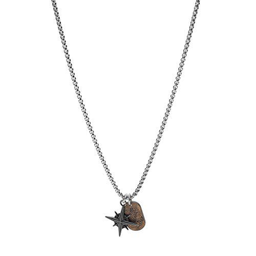 Fossil Halskette Meaningful Motifs Anhänger Edelstahl, JF03624998