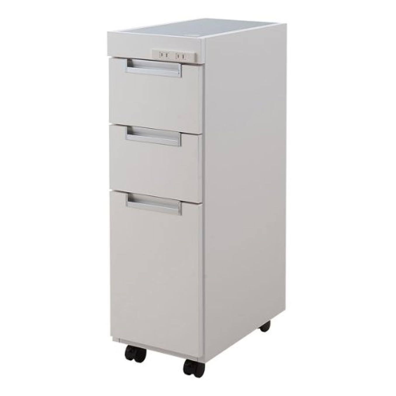 急速なコロニアル側溝ステンレス天板すきま収納キッチンカウンター 幅25.5cm ホワイト NO-0037