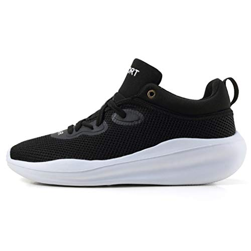 For Sale! BIKETAFUWY Couple Sports Mesh Running Platform Shoes Tourist Shoes Flying Weaving Shoe Walking Outdoor Slip On Sneakers Black