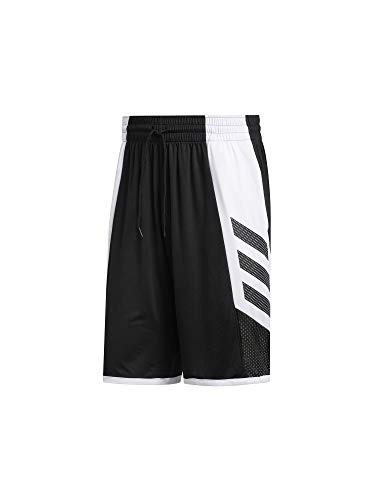 adidas Herren PRO Madness SHR Sport Shorts, Black/White/Grey Five, 5XL