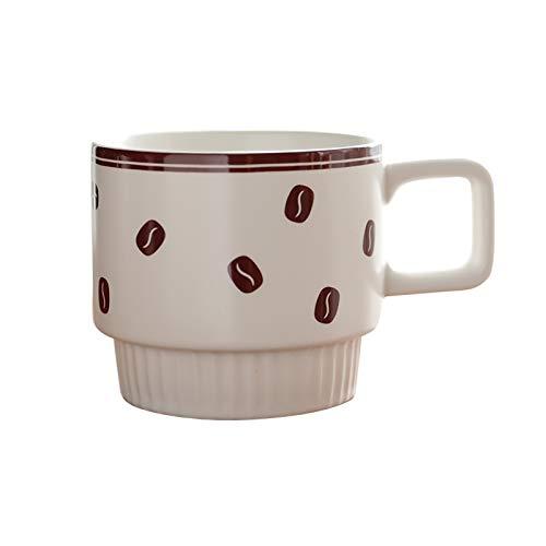 zxb-shop Soap Dispenser for Bathroom Porcelain Stackable Ceramic Mug Retro Coffee Cup Office Mug Can Be Used for All Kinds of Coffee, Tea and Beverages (10.8 Oz) Bottles Dispenser (Color : C)
