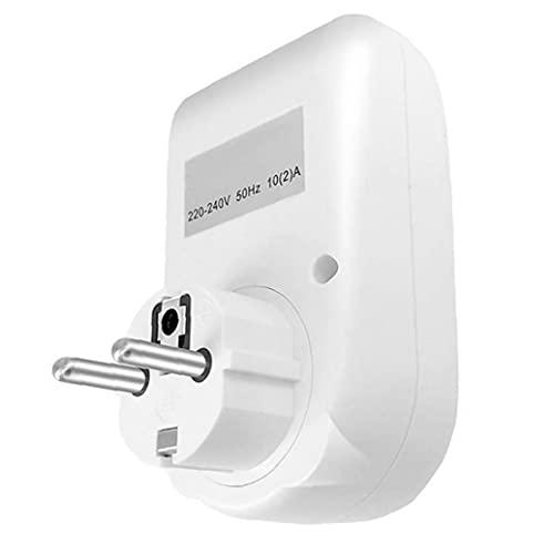 LAANCOO Temporizador de Salida Digital Inteligente programable de Salida del Temporizador portalámparas para lámparas de Las Luces