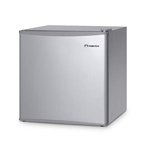 Inventor Mini-Réfrigérateur 43L, Couleur Argent, Classe Énergétique A ++, Capacité 43litres, Consommation d'Énergie 84 kWh/an, Faible Niveau Sonore, Low Frost, Porte Réversible, Garantie de 2 ans