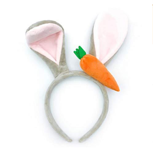 Diadema para orejas de conejo, oreja, oreja, zanahoria, accesorio para disfraz de Pascua (1 unidad)