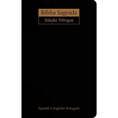 Bíblia NVI - Trilíngue extra gigante - Luxo preta