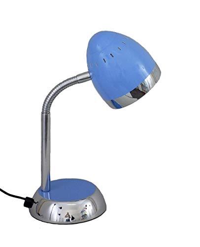 Schreibtischleuchte Tom hellblau mit Flexarm E14 max. 40 W Kinderleuchte Tischlampe Schreibtischlampe