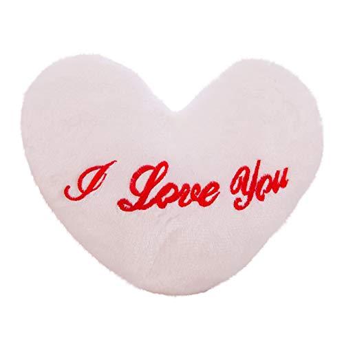 Colorido corazón almohada juguetes suaves almohada corazón cojín colorido brillante almohada muñeca regalo para niña niños Navidad cumpleaños día de San Valentín regalo