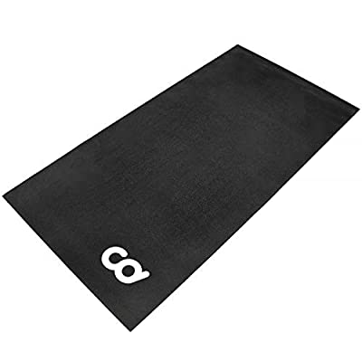 Bike Bicycle Trainer Floor Mat Suits Ergo Mag Fluid for Indoor Cycles.Stepper for Peloton Indoor Bikes - Floor Thick Mats For Exercise Equipment - Gym Flooring (30-inch x 60-inch) (76.2 cm x 152.4 cm)
