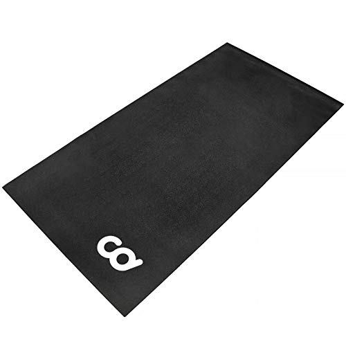 Bike Bicycle Trainer Floor Mat Suits Ergo Mag Fluid for Indoor Cycles.Stepper for Peloton Spin Bikes - Floor Thick Mats for Exercise Equipment - Gym Flooring (30-inch x 60-inch) (76.2 cm x 152.4 cm)