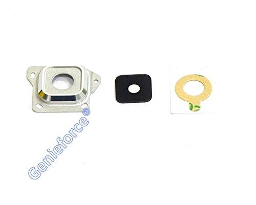 Premium Kameralinse Set für Samsung Galaxy A3 SM-A300F (2015) - WEIß - Komplett 3-in-1 Set Kameralinse Glas + Rahmen + 3M Doppelseiter Klebestreifen - WEIß WHITE - NEU ֎