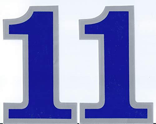 (シャシャン)XIAXIN 防水 PVC製 ナンバー ステッカー 耐候 耐水数字 ゼッケン キャラクター 表札 スーツケース 背番号 ネームプレート ロッカー 屋内外 兼用 TS-138NS (2点, 1)