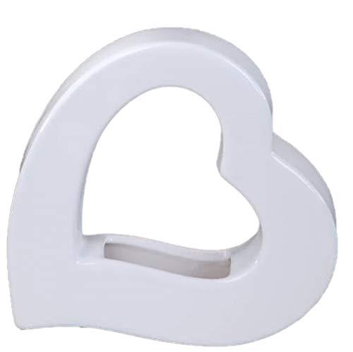 formano Deko Vase in moderner Herzform, 18 cm