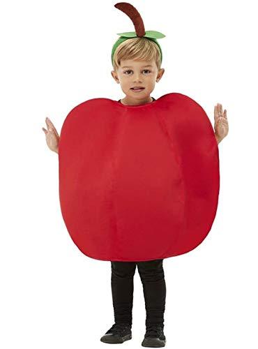 Funidelia | Disfraz de Manzana para nio y nia Talla 4-10 aos Fruta, Comida - Rojo