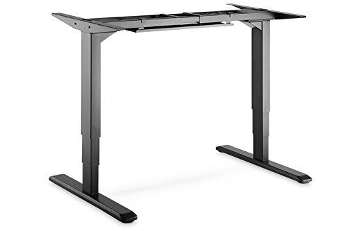 DIGITUS Höhenverstellbarer Schreibtisch Elektrisch - Elektromotor Tischgestell - Steh-Arbeitsplatz Ergonomisch - Schwarz