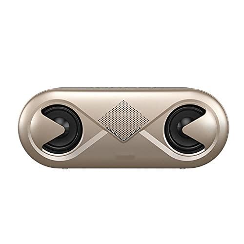 ysgbaba Haut-Parleur Bluetooth sans Fil Accueil Subwoofer Subwoofer Outdoor Mobile Téléphone Mini Haut-Parleur (Color : Gold)