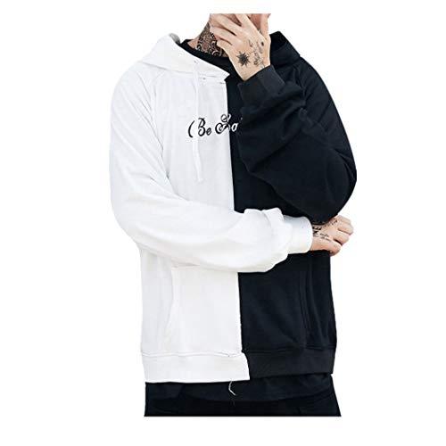 Kobay Volto Sorridente Moda Stampa Felpa con Cappuccio del Rivestimento Pullover Teen...