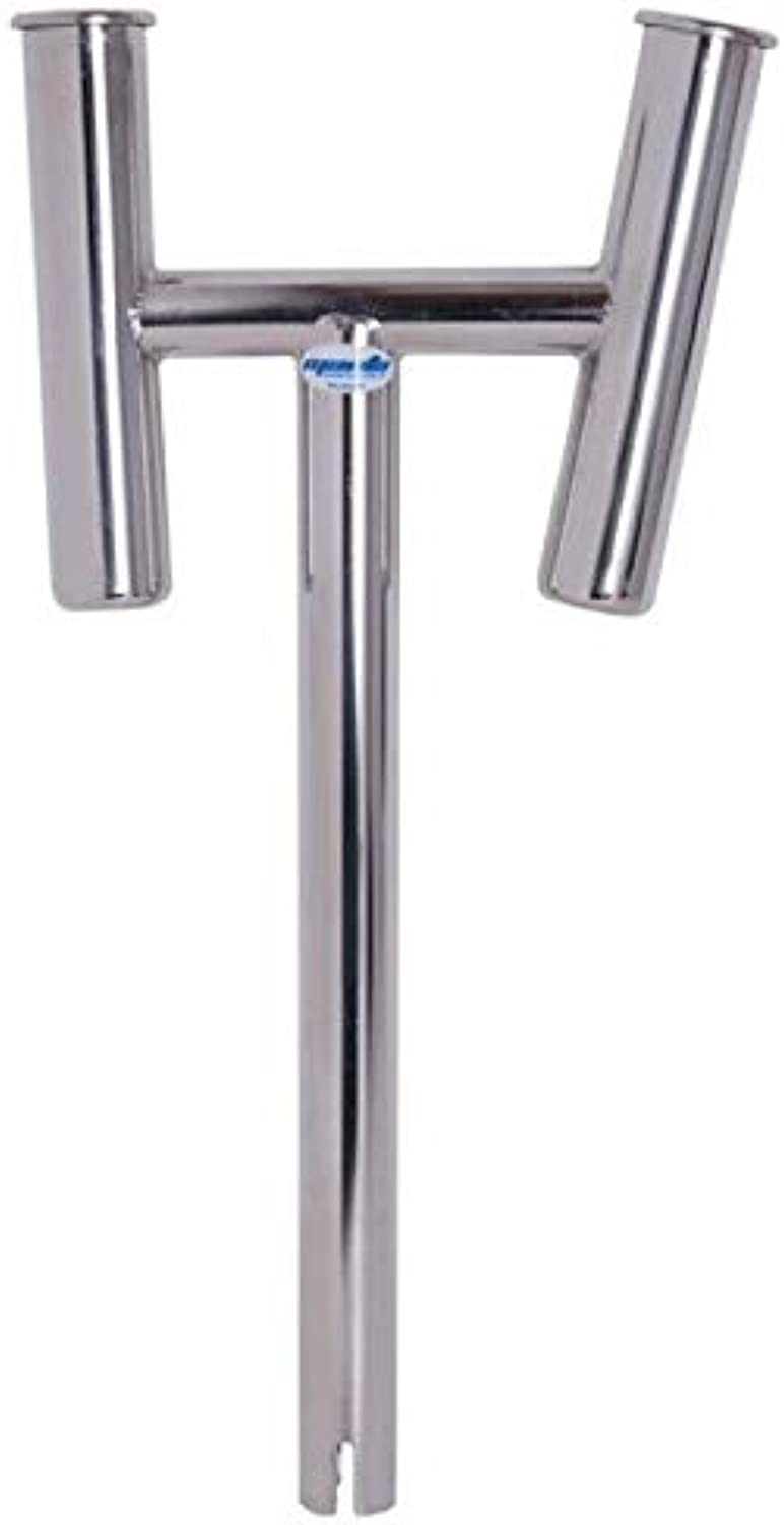 Dual Twin Rod Holder Extension Stainless Steel Boat Marine
