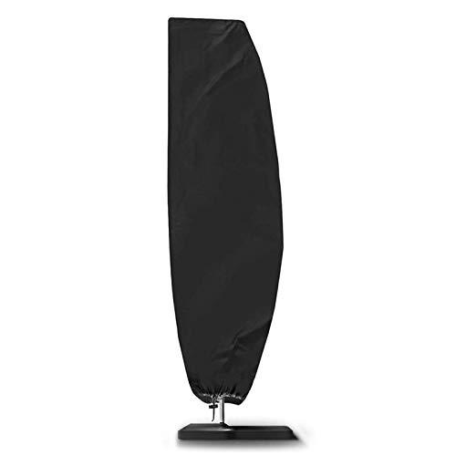 NASUM Schutzhülle für Ampelschirme 420D Sonnenschirmhülle mit Stab, Abdeckhauben für Sonnenschirm 2 bis 4 m mit Reißverschluss und Zugkordel Schirmhülle schwarz (104.33 x 16.7/27.55/18.88 inch)