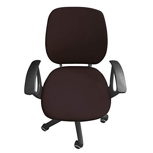 Jian Ya Na, fodera per sedia da scrivania e da ufficio, protettiva, elasticizzata, universale Caff