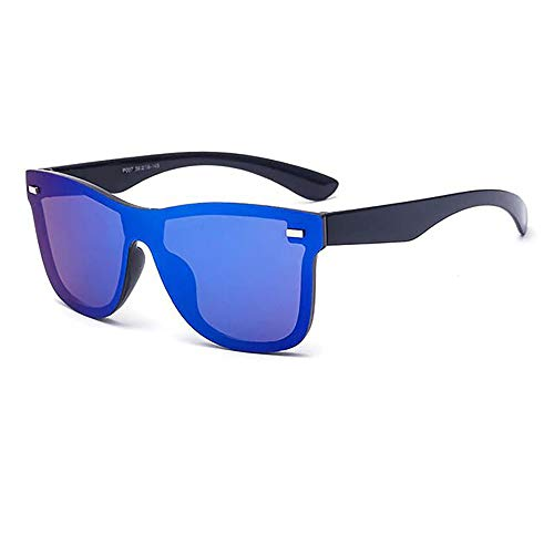 24 JOYAS Gafas de Sol Pantalla Completa Polarizadas con Funda y Gamuza para Mujer y Hombre (Azul)