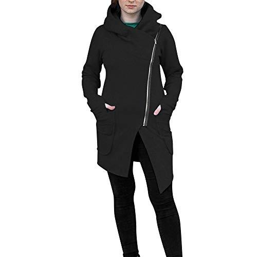 Auifor vrouwen winter ritssluiting blouse hoodie capuchon sweatshirt jas outwear