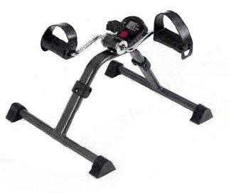 Pedalier | Aparato ejercitador de brazos y piernas a la vez| Apuesta por el deporte en casa | Intensidad variable | Con cintas regulables en el pedal |Color cromado