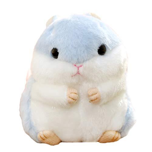 Süßer Plüsch Hamster Puppe Schlüsselanhänger, Creamon Süßer Plüsch Hamster Puppe Schlüsselanhänger Kuscheltiere Schlüsselanhänger Charm Handtasche Anhänger blau