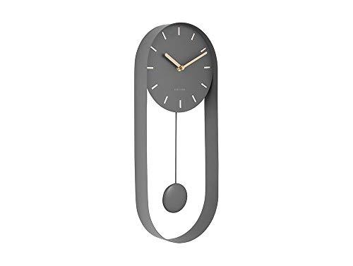 Karlsson - Wanduhr - Uhr - Pendeluhr - Pendulum Charm - Stahl grau
