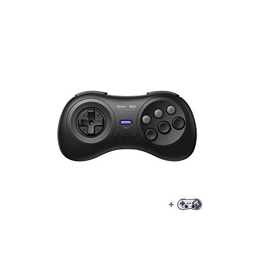 8Bitdo M30 Bluetoothゲーミングコントローラー6ボタンメガドライブ風ゲームパッド NS Switch Windows Android macOS Steam Respberry Pi用-栓抜き付き