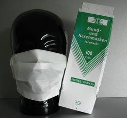 Einweg Mundschutz Papier 1-lg 100 Stück
