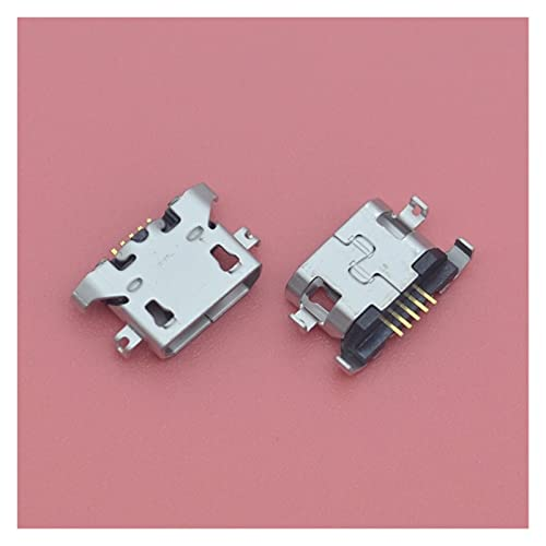 DHTENG 100pcs Micro USB Conector de Puerto de Carga de 5pin de Cargador para Motorola Moto E3 G5 XT1672 XT1676 G4 Tocar XT1600 XT1601 Muelle de Cargador