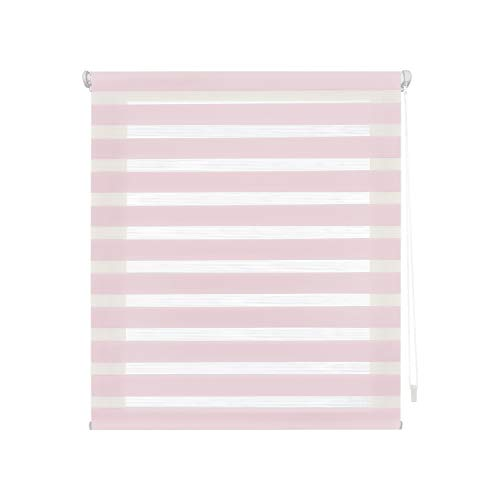 Blindecor Indus Estor Enrollable Doble Tejido Noche y Dia Easy Fix, Rosa, 130 X 180 cm