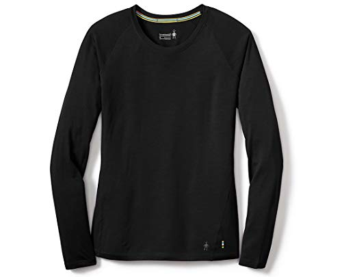 Smartwool Women's Merino 150 Baselayer Long Sleeve Boxed Sweaters, Vests & Body Warmers Mixte Adulte, Black, FR : L (Taille Fabricant : L)