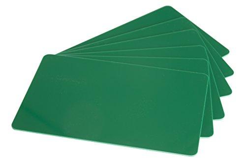 10 x Karteo® Plastikkarten grün | Blankokarten im EC-Kartenformat | für Ausweise Dienstausweise EC- und Bankkarten Gesundheitskarten