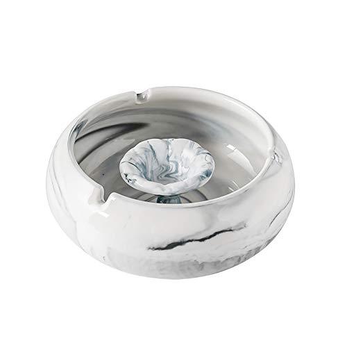 1 szt. blat marmurowy wzór ceramiczna popielniczka wiatroszczelna wielofunkcyjna duża pojemność łatwa do mycia szara