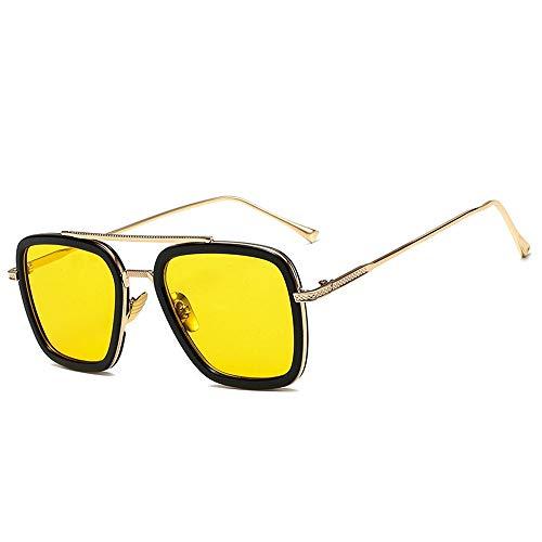 NXMRN Gafas De Sol Moda Estilo Rígido Para Mujeres Gafas De Sol Hombres Gafas De Sol Cuadradas Retro Masculino-C8