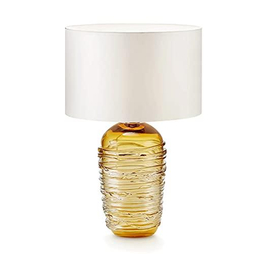 Lámpara de mesa Lámpara de mesa de noche de vidrio de lujo decoración de arte moderno de noche lámpara de mesita de noche lámpara de mesa lámpara de mesa sala de estar dormitorio mesita de noche lámpa