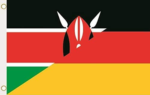 U24 Flagge Fahne Kenia-Deutschland 90 x 150 cm
