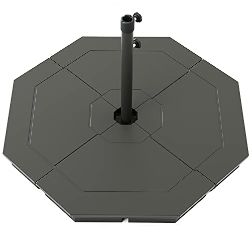 Divine Style G-Blocs Cantilever Parasol Base Weights - Easy to Fill 4 x Parasol Weights for Cantilever Umbrellas (Urban Grey)