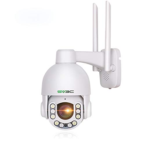 5MP WiFi PTZ Camera Outdoor, SV3C 5 Megapixel Super HD IP Camera, Pan Tilt Zoom Human Motion Detection Security Cam, 200FT Night Vision,Two-way Audio,Metal Housing Waterproof,Support Max 128GB SD Card
