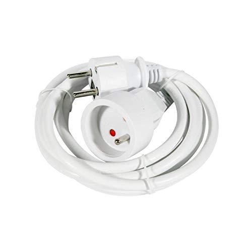 LOV_239055 - Alargador eléctrico (5 m), color blanco
