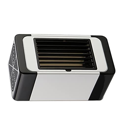 XMH Aire Acondicionado Portátil, Mini Ventilador Personal, Salida De Aire Ajustable, Funcionamiento Silencioso, Fuente De Alimentación USB DC, Enfriador Evaporativo Compacto para Oficina En Casa