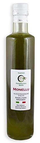 Neue Ernte 2019/20 NOVELLO Olivenöl extra vergine aus Sizilien kaltgepresst naturbelassen naturtrüb 0,5L
